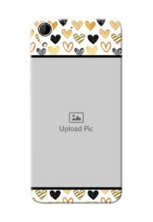 HTC Desire 728G Colourful Love Symbols Mobile Cover Design