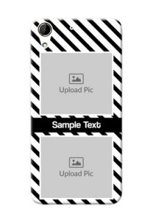 HTC Desire 728G 2 image holder with black and white stripes Design