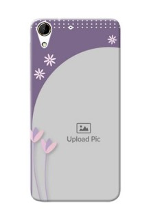 HTC Desire 728G lavender background with flower sprinkles Design