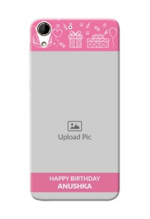 HTC Desire 728G plain birthday line arts Design Design