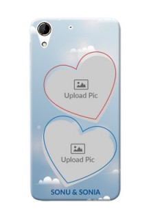HTC Desire 728G couple heart frames with sky backdrop Design