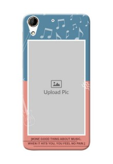 HTC Desire 728G 2 colour backdrop with music theme Design