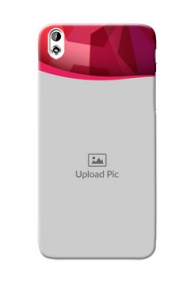 HTC Desire 816 Red Abstract Mobile Case Design