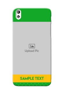 HTC Desire 816 Green And Yellow Pattern Mobile Cover Design