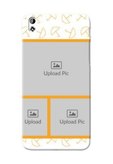 HTC Desire 816 Yellow Pattern Mobile Back Cover Design