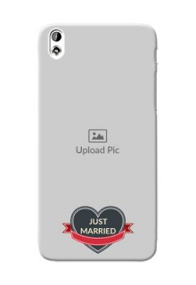 HTC Desire 816 Just Married Mobile Cover Design