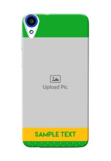 HTC Desire 820 Green And Yellow Pattern Mobile Cover Design