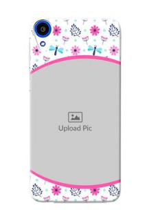 HTC Desire 820 Colourful Flowers Mobile Cover Design