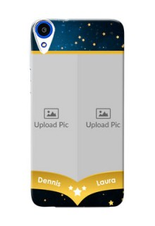 HTC Desire 820 2 image holder with galaxy backdrop and stars  Design