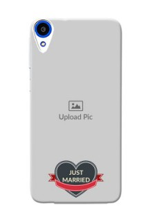 HTC Desire 820q Just Married Mobile Cover Design