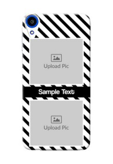 HTC Desire 820q 2 image holder with black and white stripes Design