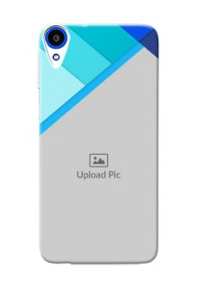 HTC Desire 820s Blue Abstract Mobile Cover Design