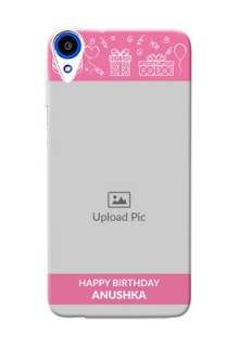 HTC Desire 820s plain birthday line arts Design Design