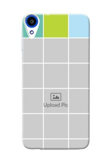 HTC Desire 820s white boxes pattern Design Design