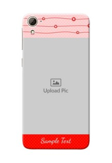 HTC Desire 826 Red Pattern Mobile Case Design
