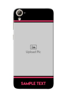 HTC Desire 826 Photo With Text Mobile Case Design