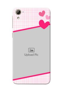 HTC Desire 826 Pink Design With Pattern Mobile Cover Design