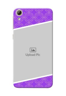 HTC Desire 826 Violet Pattern Mobile Case Design