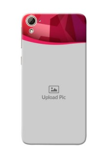 HTC Desire 826 Red Abstract Mobile Case Design