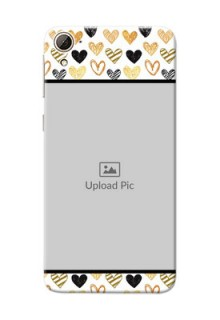 HTC Desire 826 Colourful Love Symbols Mobile Cover Design
