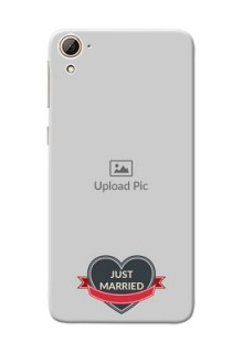 HTC Desire 826 Just Married Mobile Cover Design