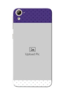 HTC Desire 826 Violet Pattern Mobile Cover Design