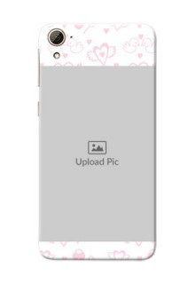 HTC Desire 826 Flying Hearts Mobile Back Cover Design