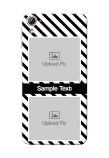 HTC Desire 826 2 image holder with black and white stripes Design