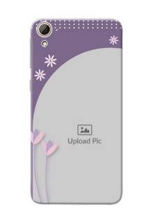 HTC Desire 826 lavender background with flower sprinkles Design