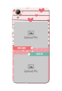HTC Desire 826 2 image holder with hearts Design
