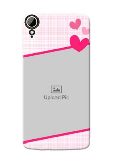 HTC Desire 828 Dual Sim Pink Design With Pattern Mobile Cover Design