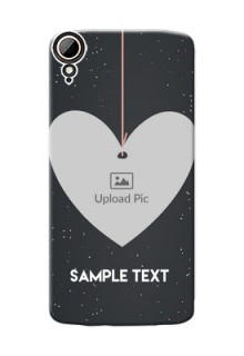 HTC Desire 828 Dual Sim Hanging Heart Mobile Back Case Design