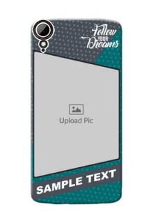 HTC Desire 828 Dual Sim 2 colour background with different patterns and dreams quote Design Design
