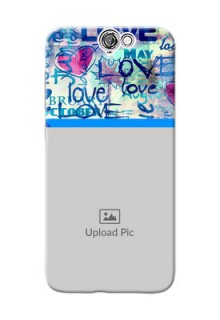 HTC Desire One A9 Colourful Love Patterns Mobile Case Design