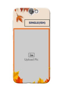 HTC Desire One A9 autumn maple leaves backdrop Design