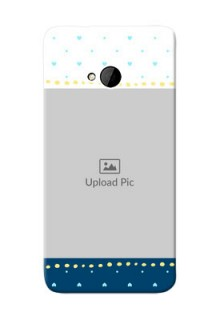 HTC Desire One M7 White And Blue Abstract Mobile Case Design