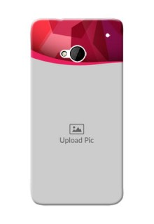 HTC Desire One M7 Red Abstract Mobile Case Design
