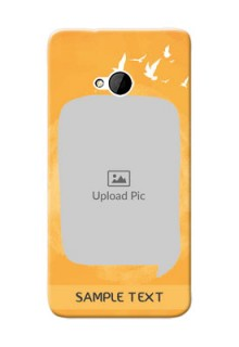 HTC Desire One M7 watercolour design with bird icons and sample text Design Design