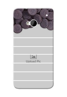 HTC Desire One M7 oreo biscuit pattern with white stripes Design Design