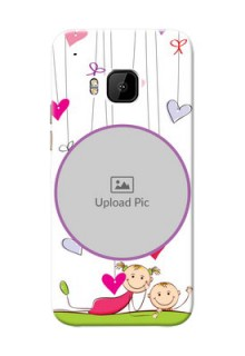 HTC Desire One M9 Cute Babies Mobile Cover  Design