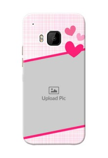HTC Desire One M9 Pink Design With Pattern Mobile Cover Design