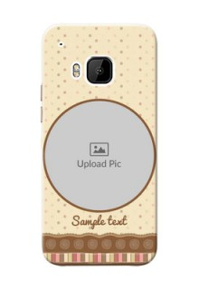 HTC Desire One M9 Brown Abstract Mobile Case Design