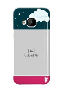 HTC Desire One M9 Cute Girl Abstract Mobile Case Design