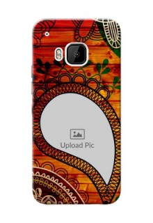 HTC Desire One M9 Colourful Abstract Mobile Cover Design