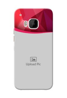 HTC Desire One M9 Red Abstract Mobile Case Design