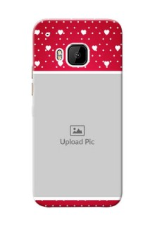 HTC Desire One M9 Beautiful Hearts Mobile Case Design