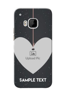 HTC Desire One M9 Hanging Heart Mobile Back Case Design