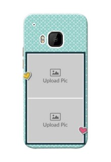 HTC Desire One M9 2 image holder with pattern Design