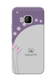 HTC Desire One M9 lavender background with flower sprinkles Design Design