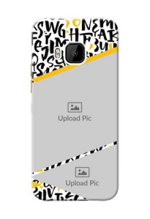 HTC Desire One M9 2 image holder with letters pattern  Design